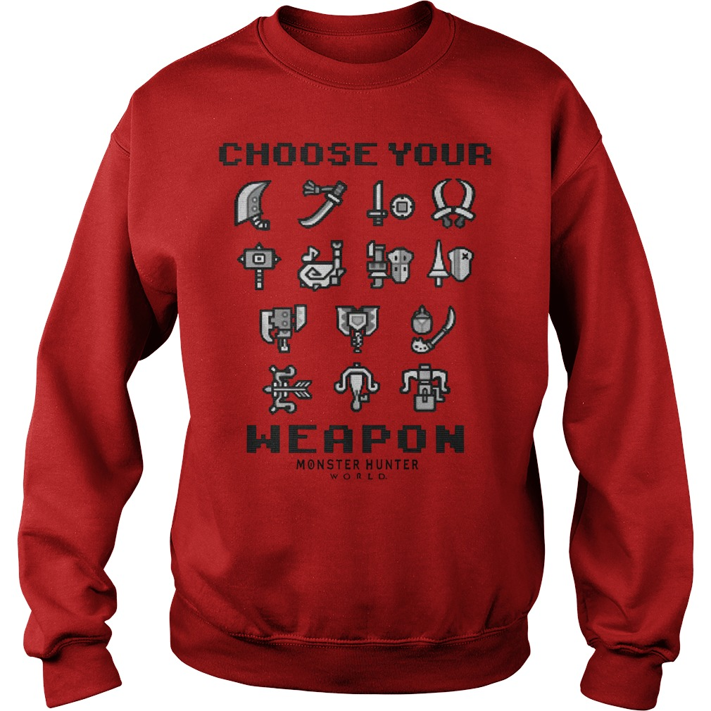 Choose your weapon vintage maroon heather adult monster hunter world Sweater