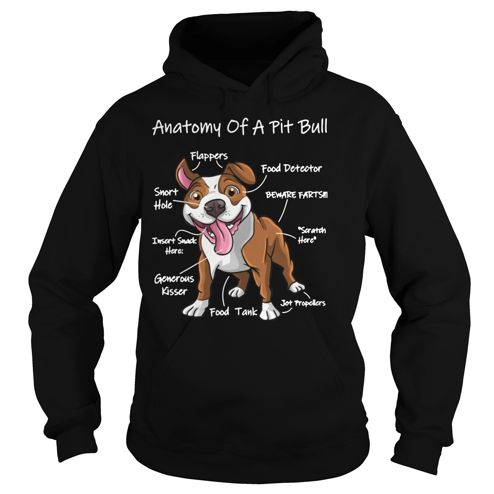 9 Anatomy of a pit bull Hoodie