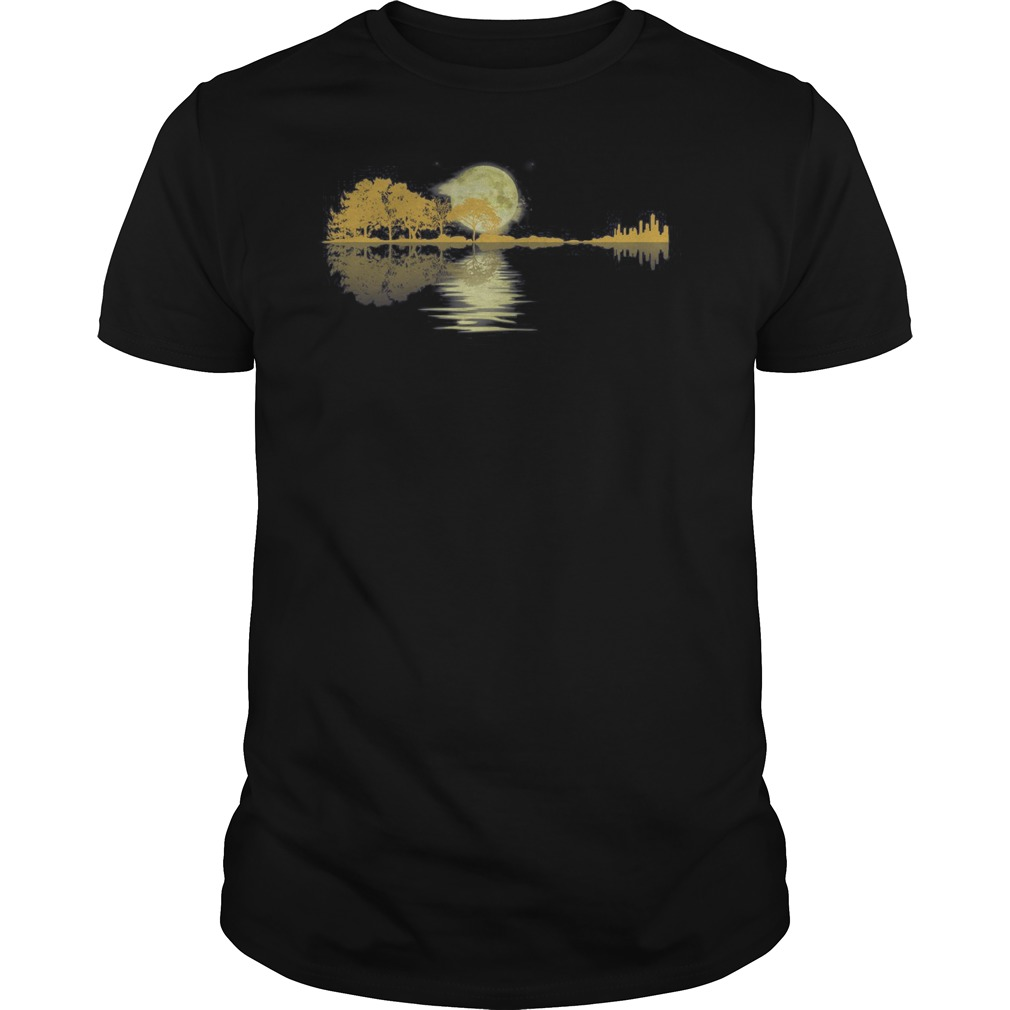 Guitar lake shadow love guitar shirt