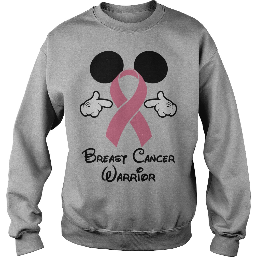 mickey-breast-cancer-warrior-Sweater