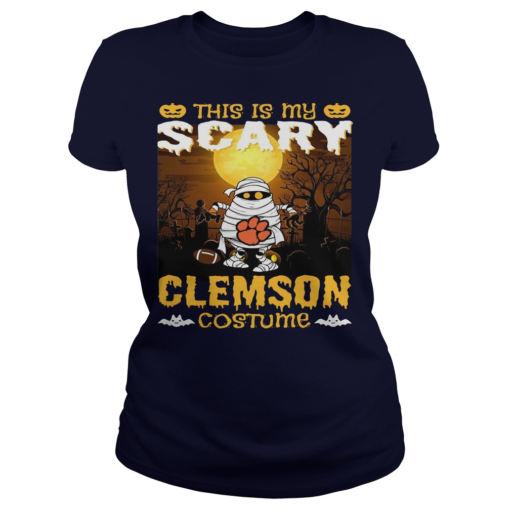 Murray this is my scary Clemson costume Ladies t-shirt