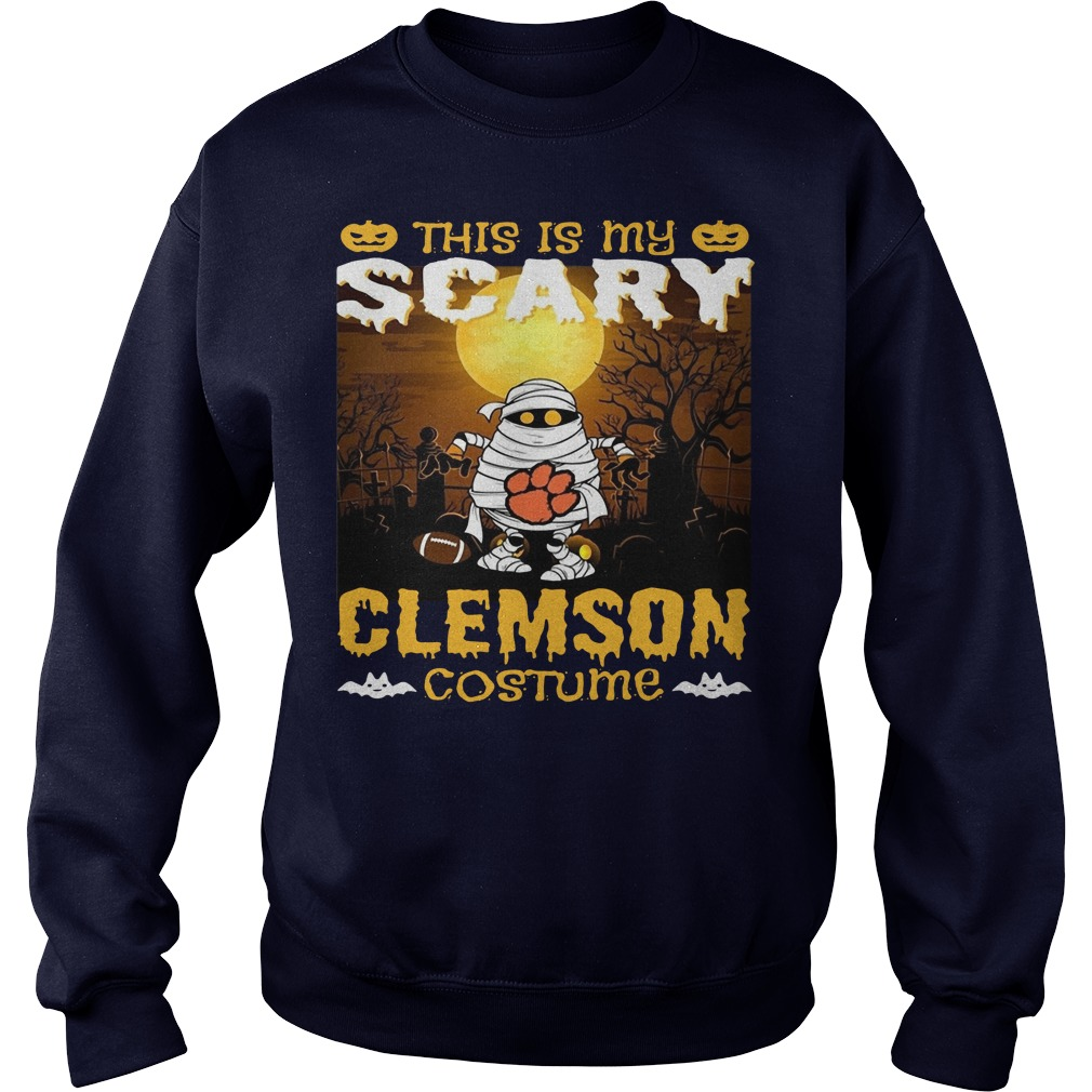 Murray this is my scary Clemson costume Sweater