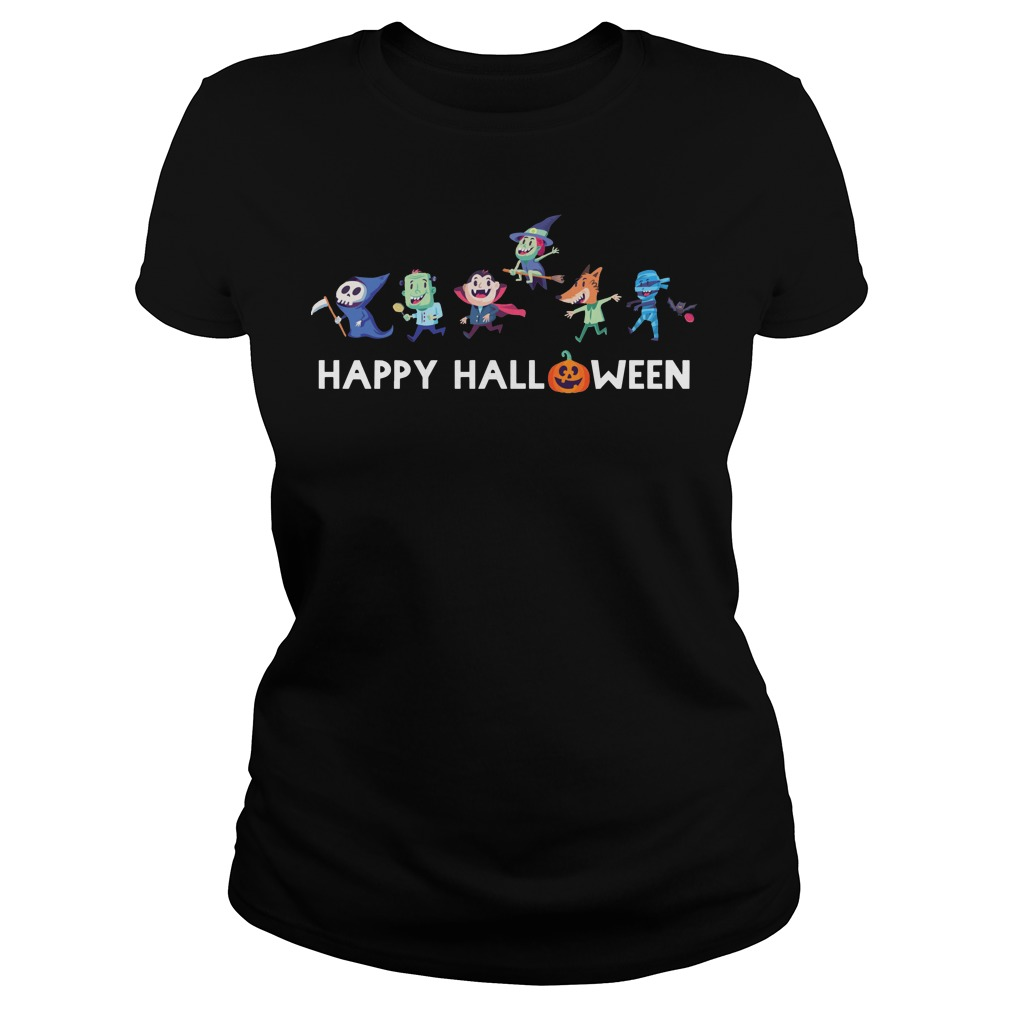 Trick or Treat Gang happy halloween Ladies t-shirt
