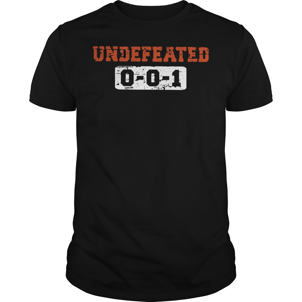 Undefeated 001 guys t-shirt