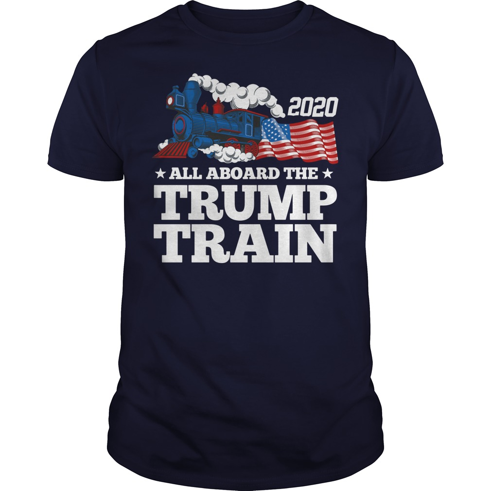 2020 all aboard train Guys t-shirt