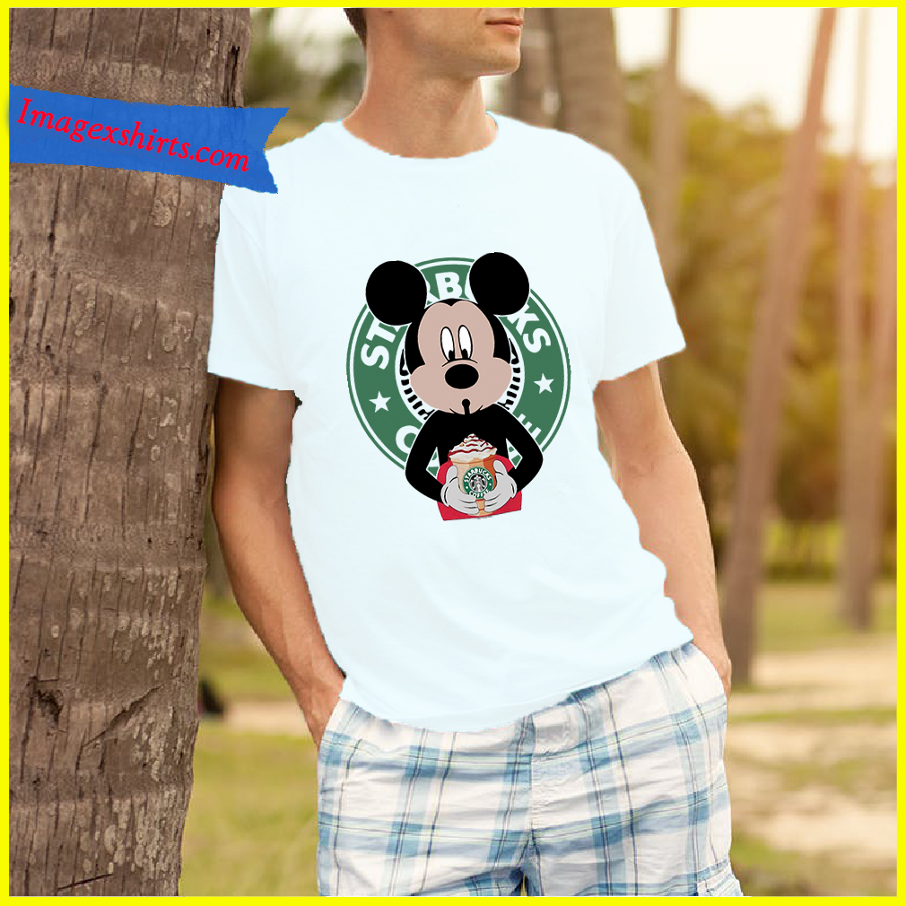 79a378c0c Mickey Mouse drinks Starbucks coffee shirt, hoodie, tank top and sweater