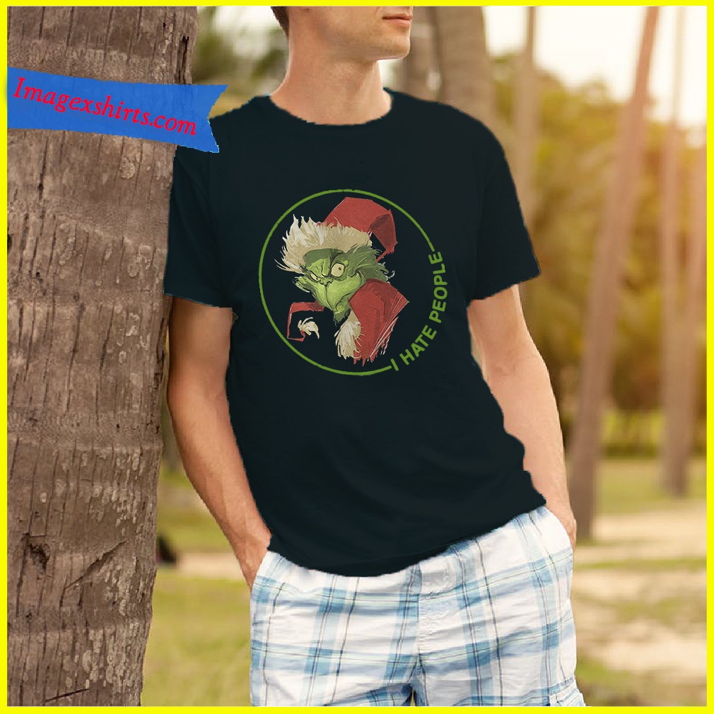 Santa Grinch I hate people Christmas shirt