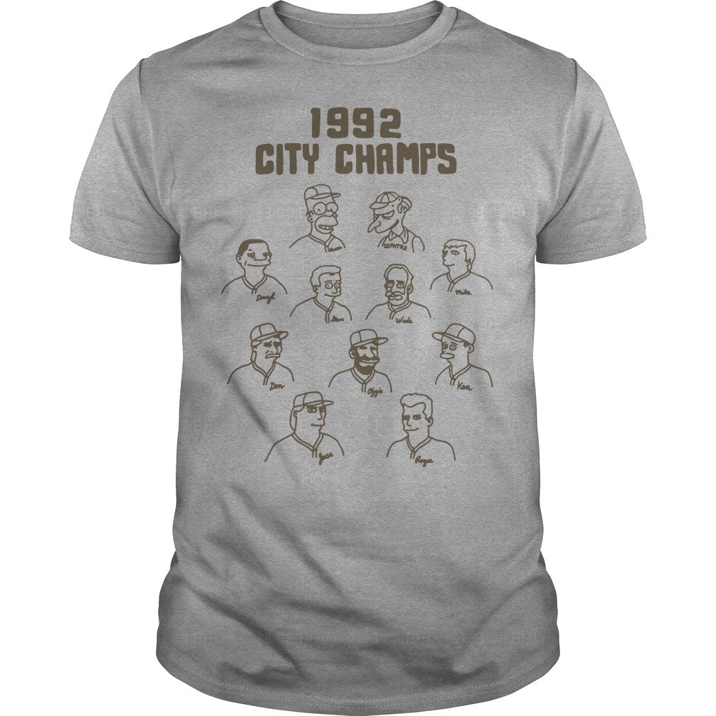 1992 City champs Guys t-shirt