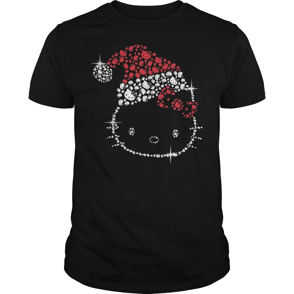 Hello Kitty rhinestone christmas Guys t-shirt