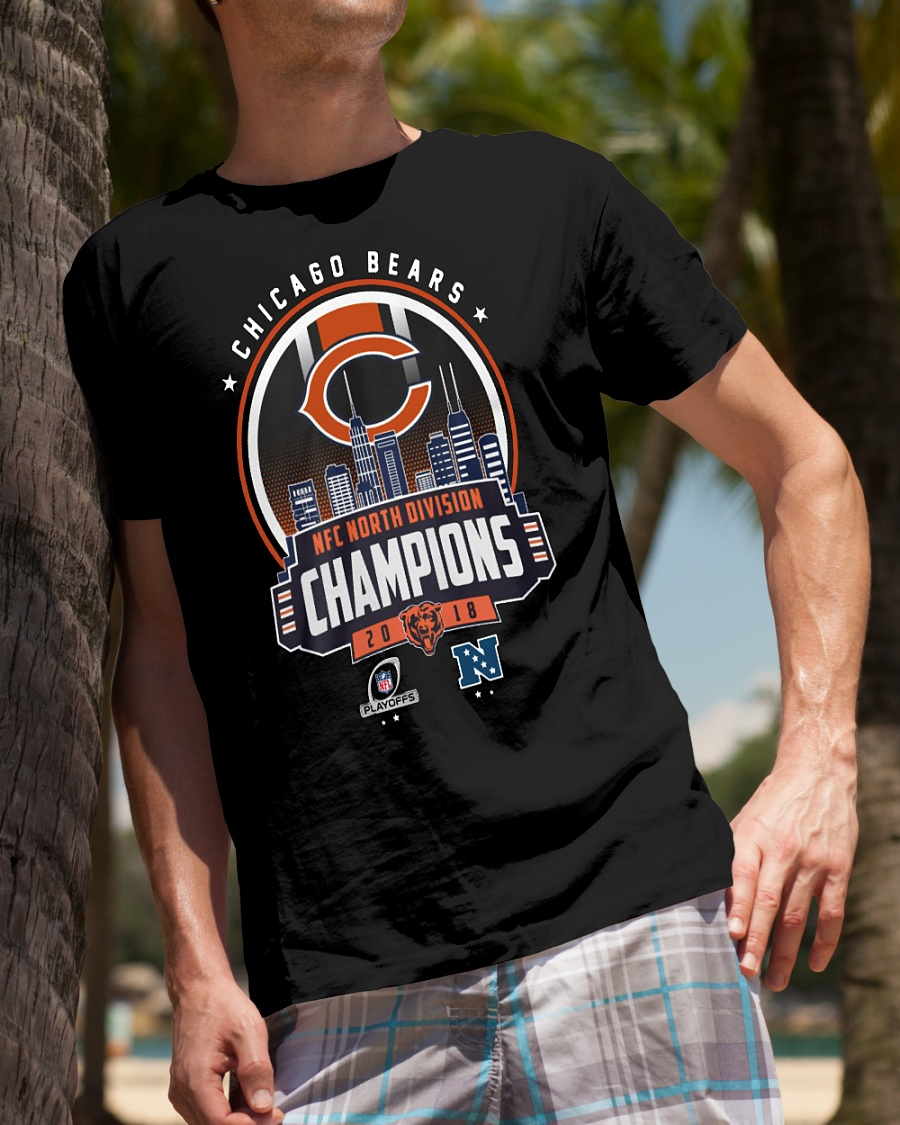 d843f639520f5 Chicago Bears Nfc North division Champions 2018 shirt