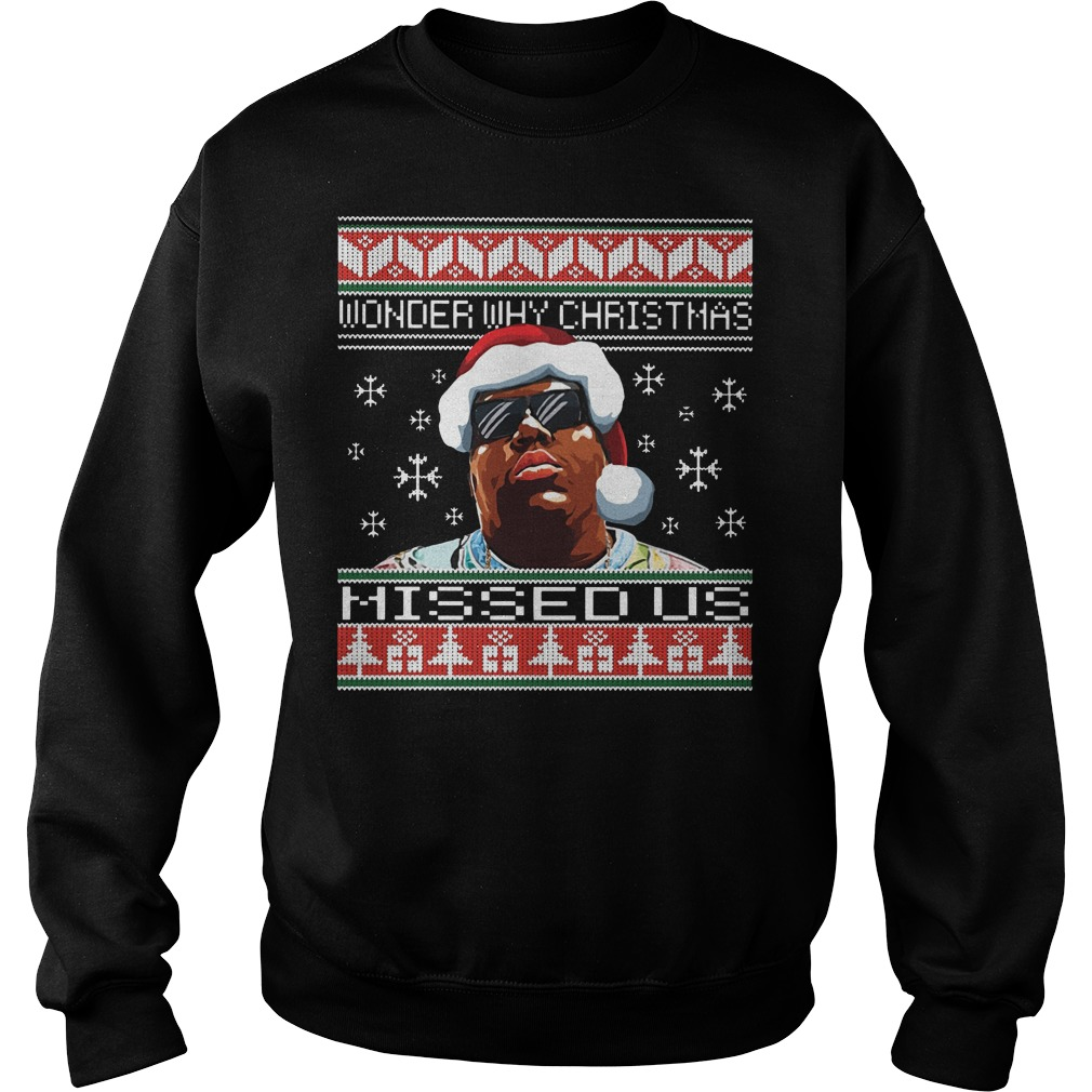 Notorious B.I.G wonder why Christmas missed us Ugly Christmas