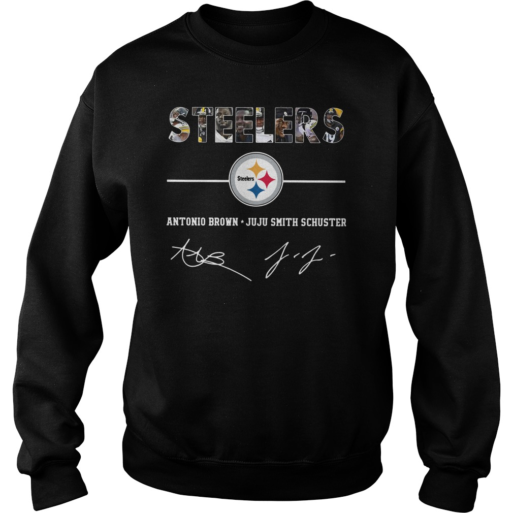 Steelers antonio brown juju smith schuster character signature Sweater