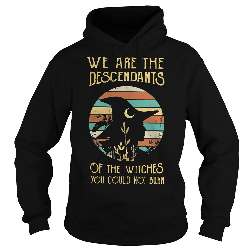 We are the descendants of the witches you could not burn vintage Hoodie
