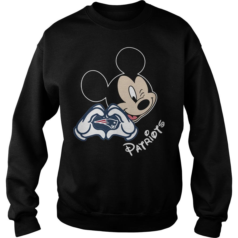 Mickey mouse love New England Patriots Sweater