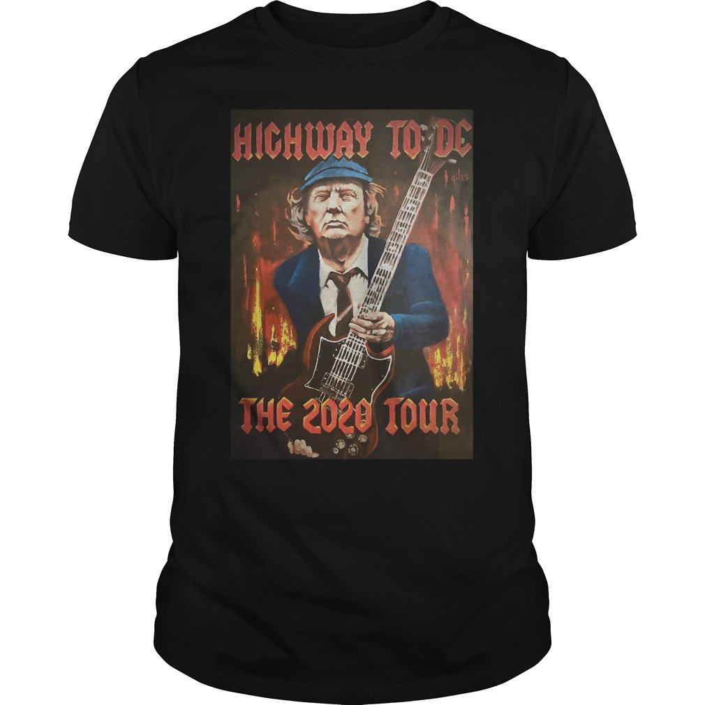 Trump highway to DC the 2020 tour Guys t-shirt