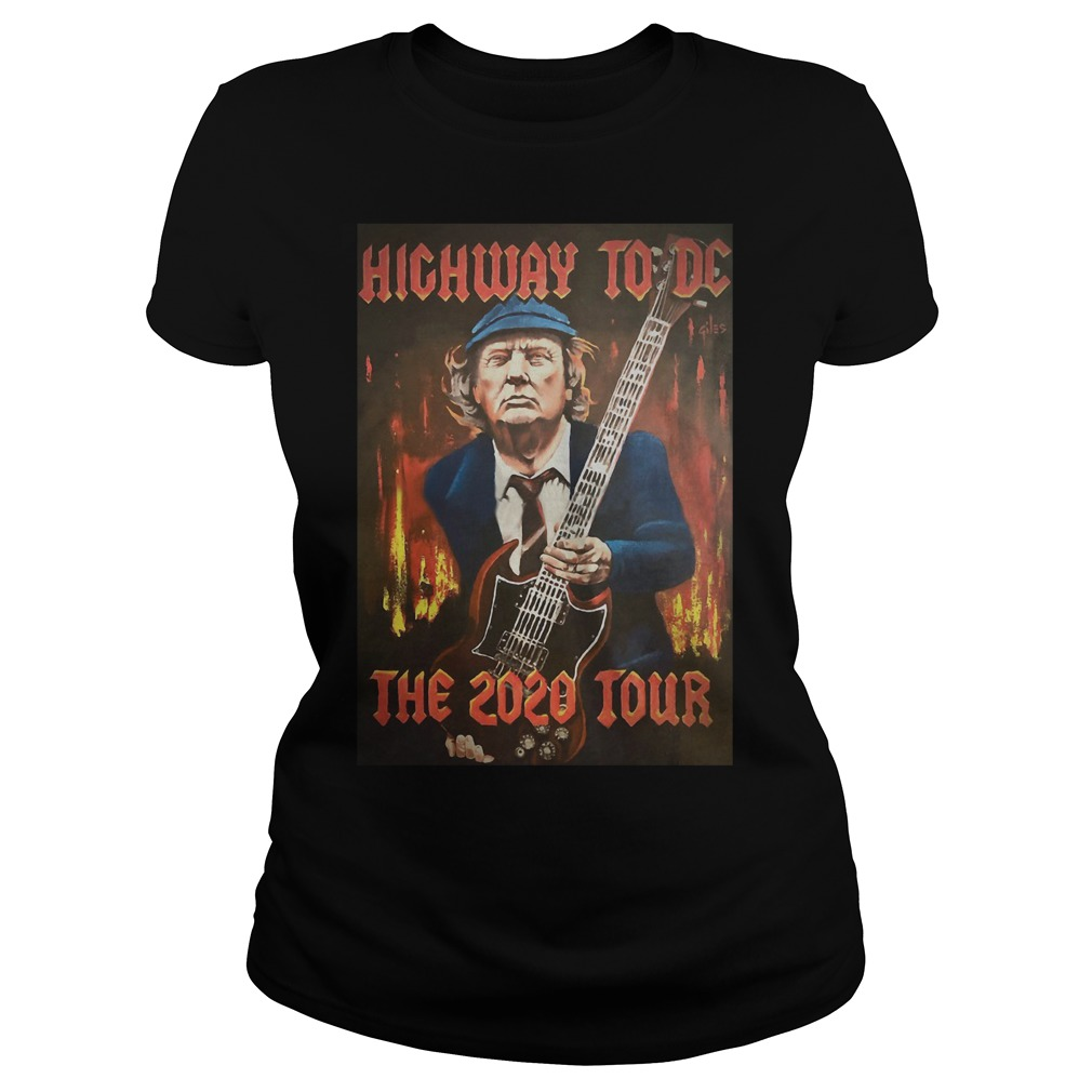 Trump highway to DC the 2020 tour Ladies t-shirt