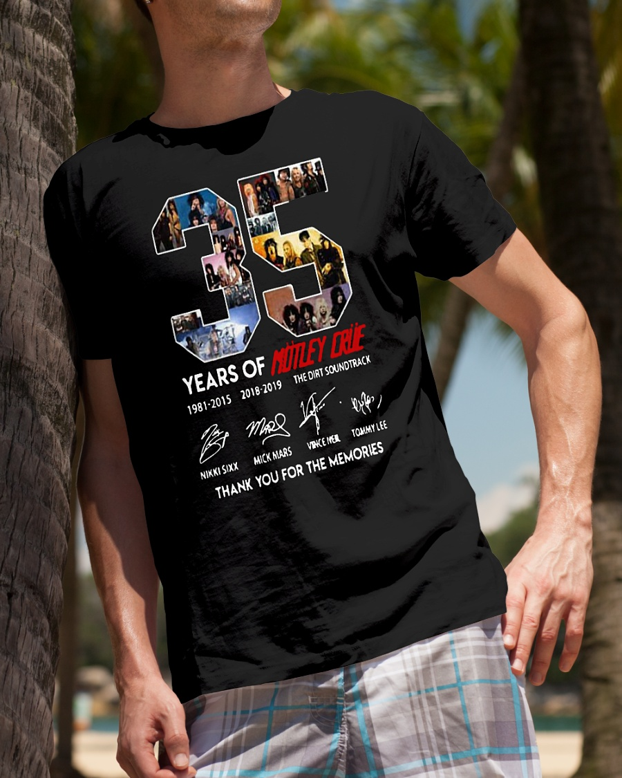 35 years of Motley Crue thank you for the memories shirt