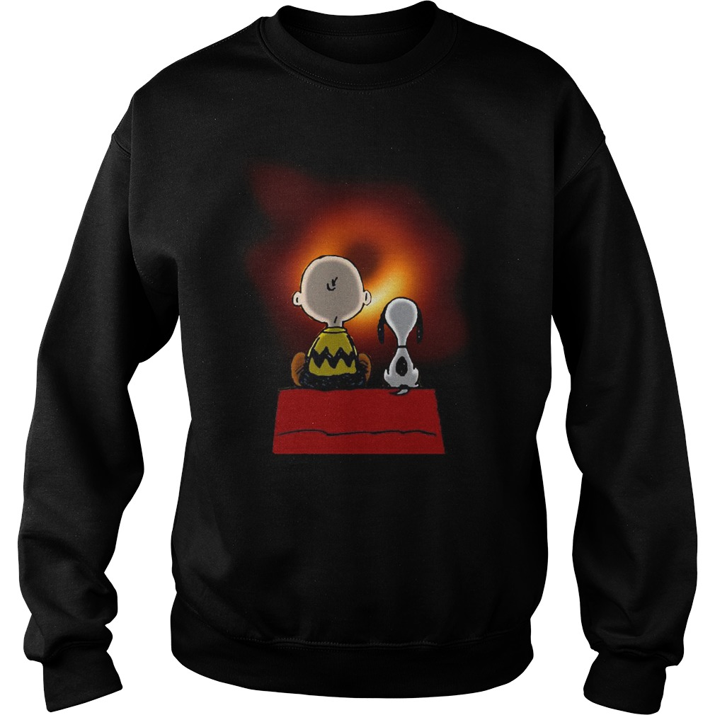 Peanuts Charlie Brown and Snoopy watching Black hole Sweater