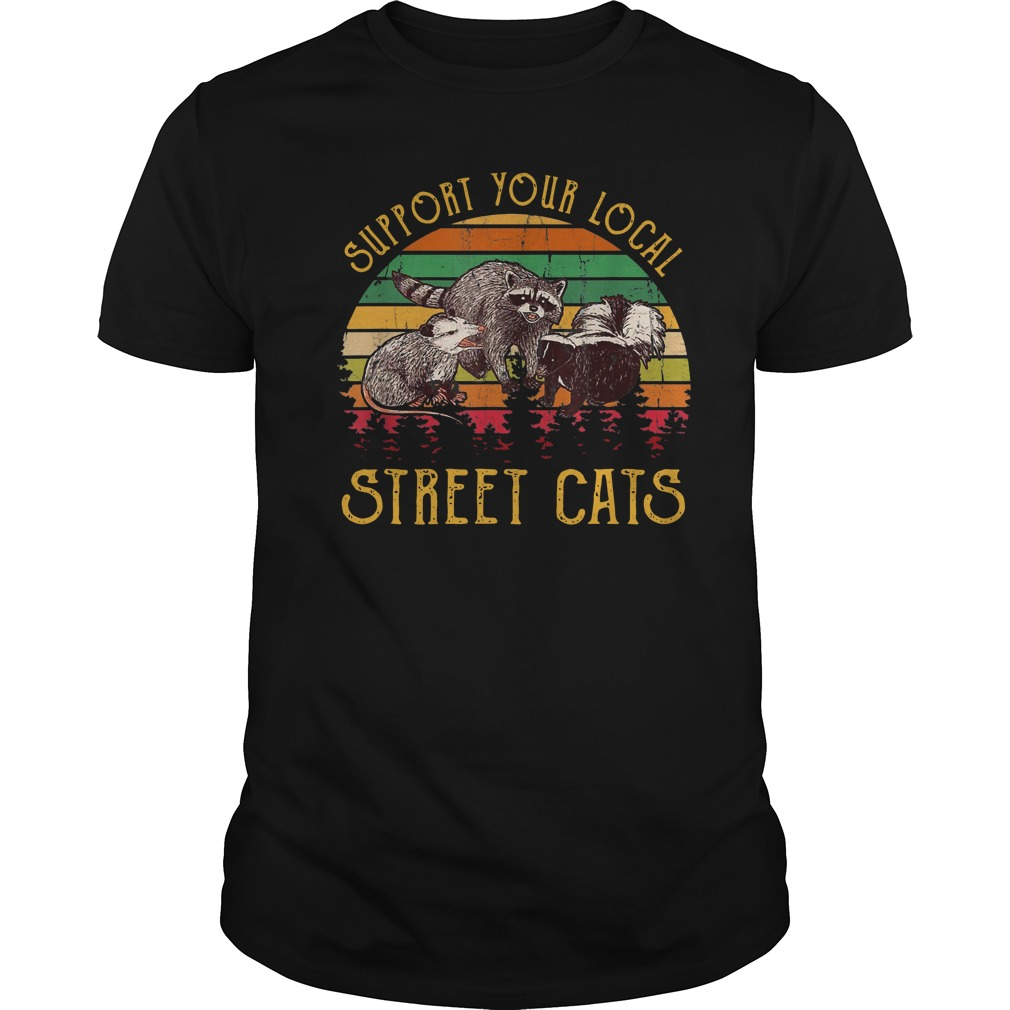 Support tour local street cats Vintage Guys t-shirt