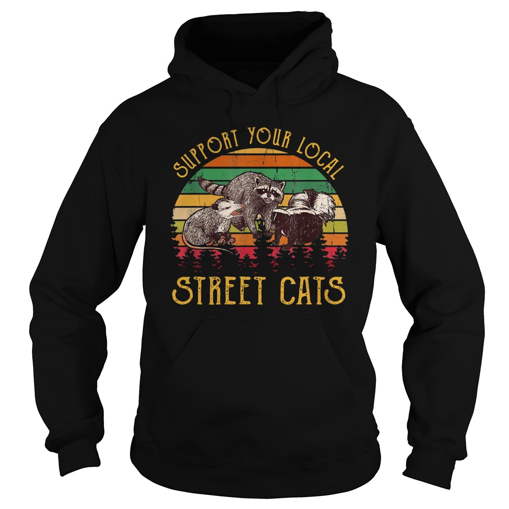 Support tour local street cats Vintage Hoodie