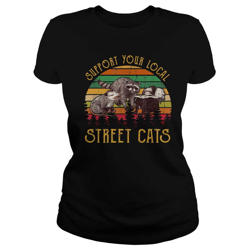 Support tour local street cats Vintage Ladies t-shirt