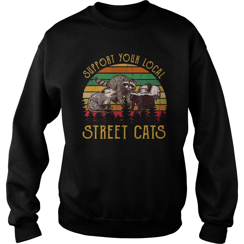 Support tour local street cats Vintage Sweater
