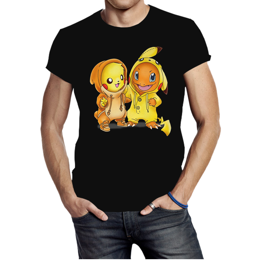 Baby Pokemon Pikachu and Disney Stitch shirt