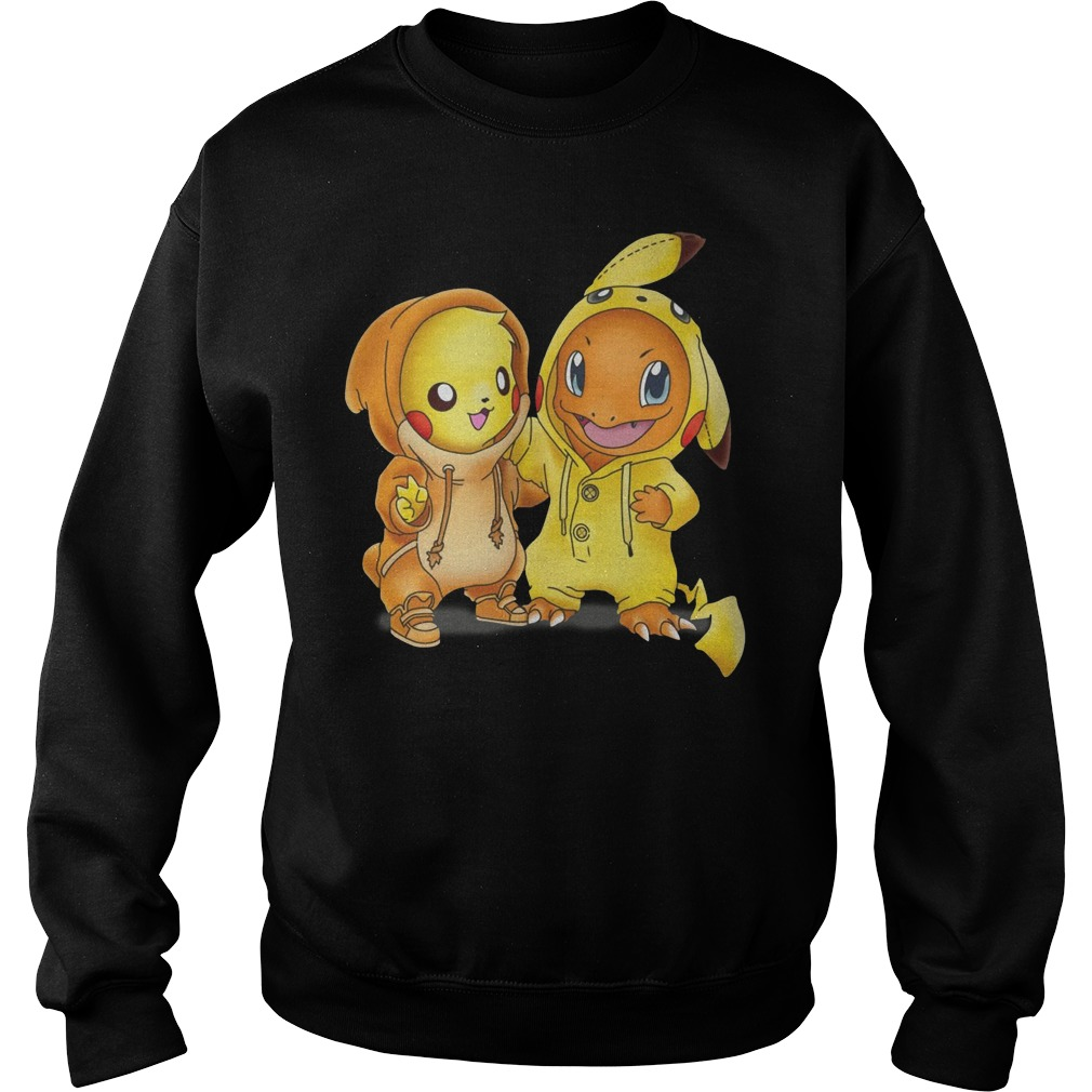 Baby Pokemon Pikachu and Disney Stitch Sweater