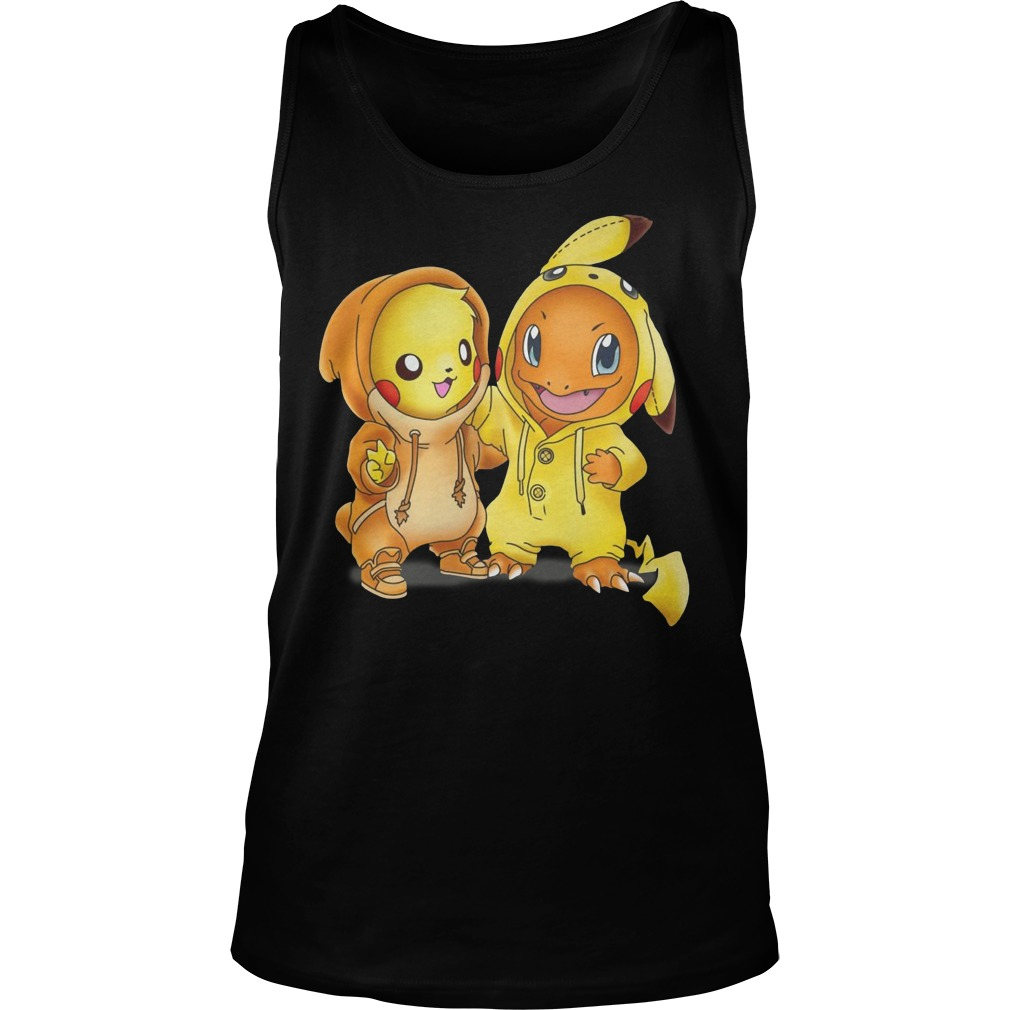 Baby Pokemon Pikachu and Disney Stitch Tank top