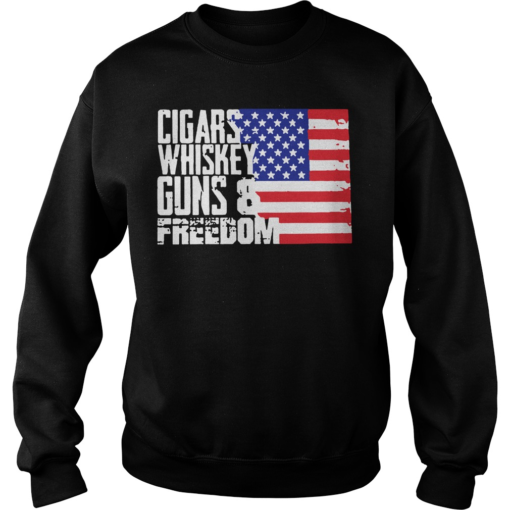 American flag Cigars whisky guns and freedom Sweater