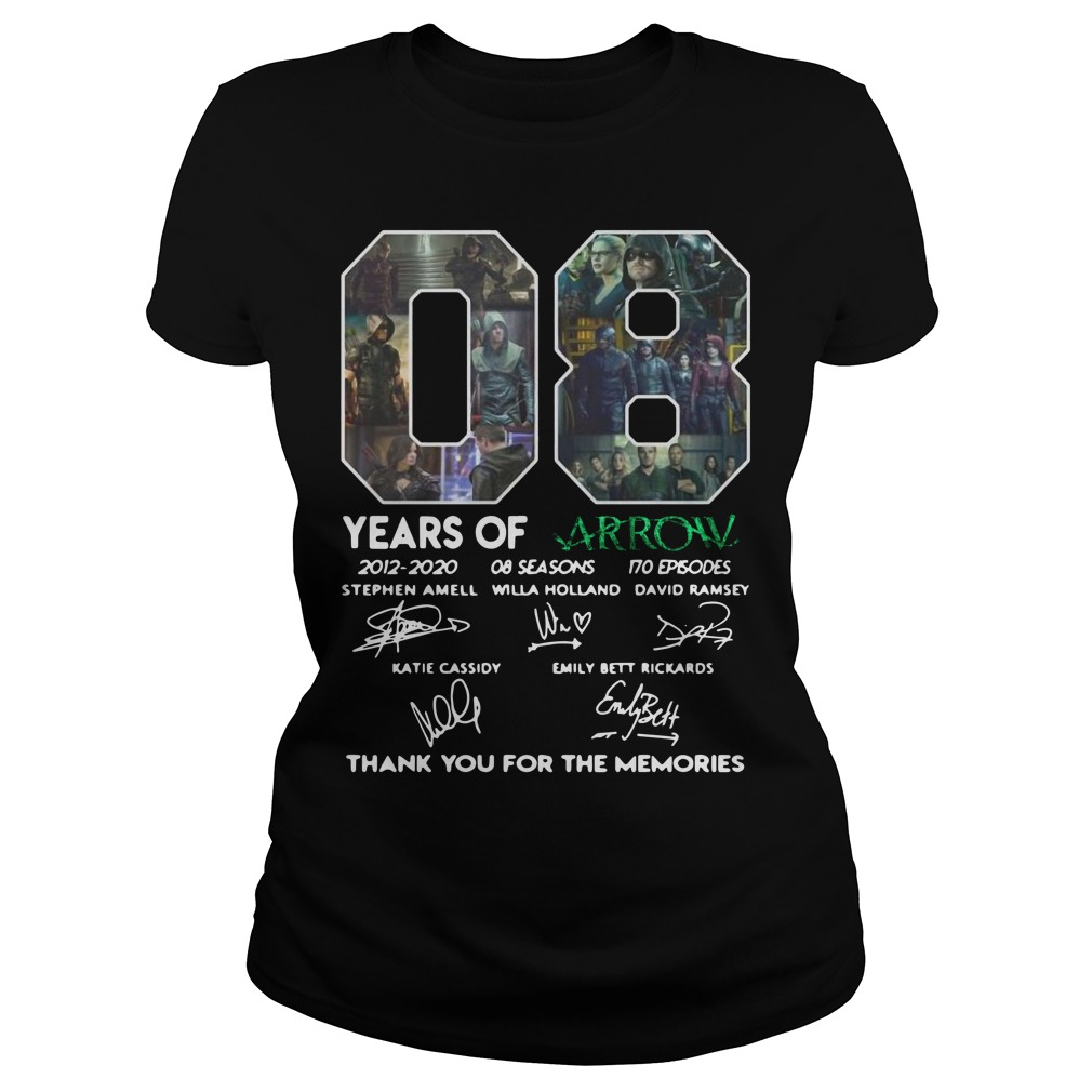 08 Years of Arrow thank you for the memories Ladies t-shirt