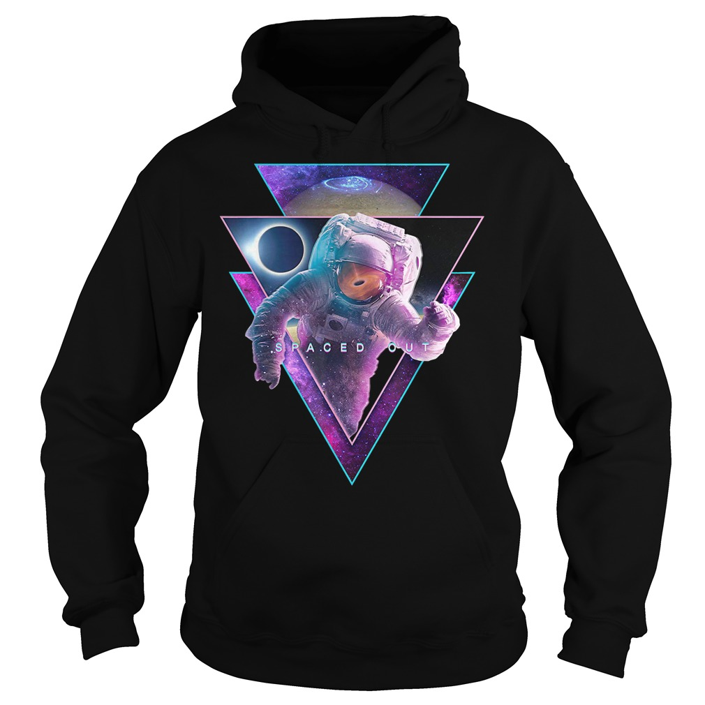 Astronaut Spaced Out Aesthetic Vaporwave Eclipse Space Art Hoodie