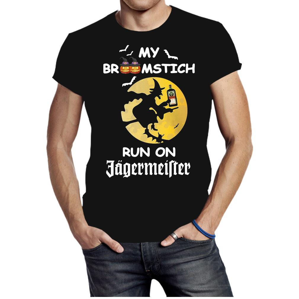 My Broomstich runs on Jagermeister Halloween shirt