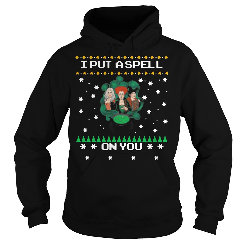 Hocus pocus I put a spell on you Christmas Hoodie