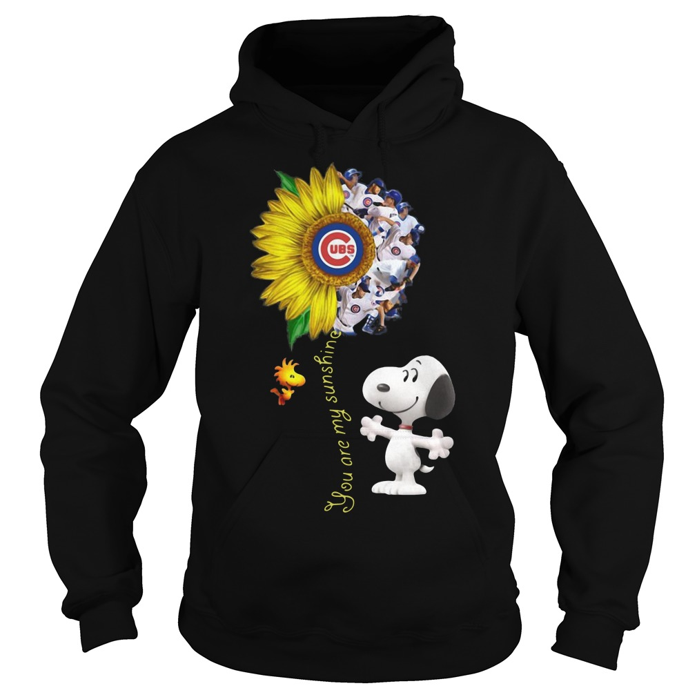 Snoopy and Woodstock you are my sunshine Chicago cubs sunflower Hoodie