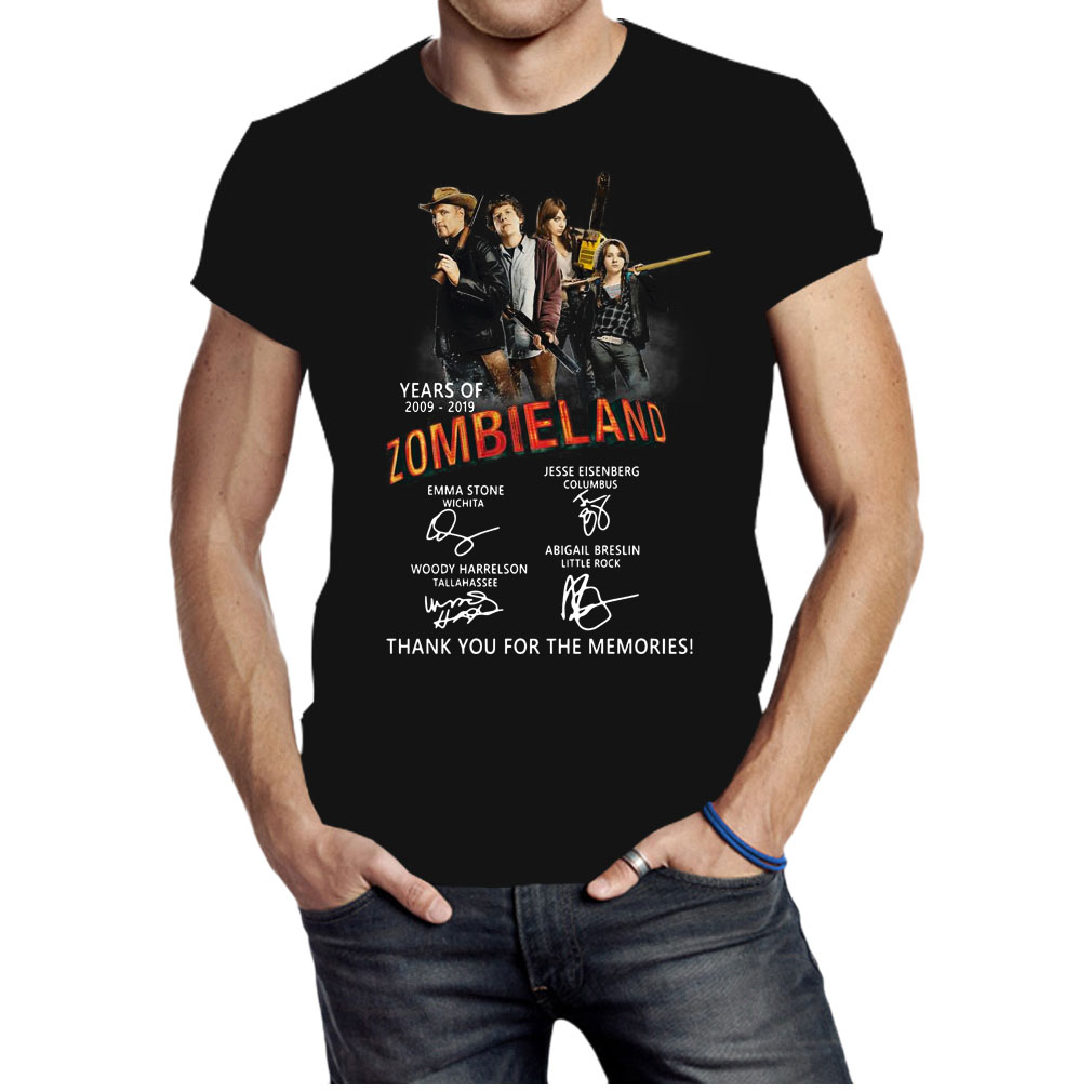 Zombieland years of 2009 2019 signatures shirt
