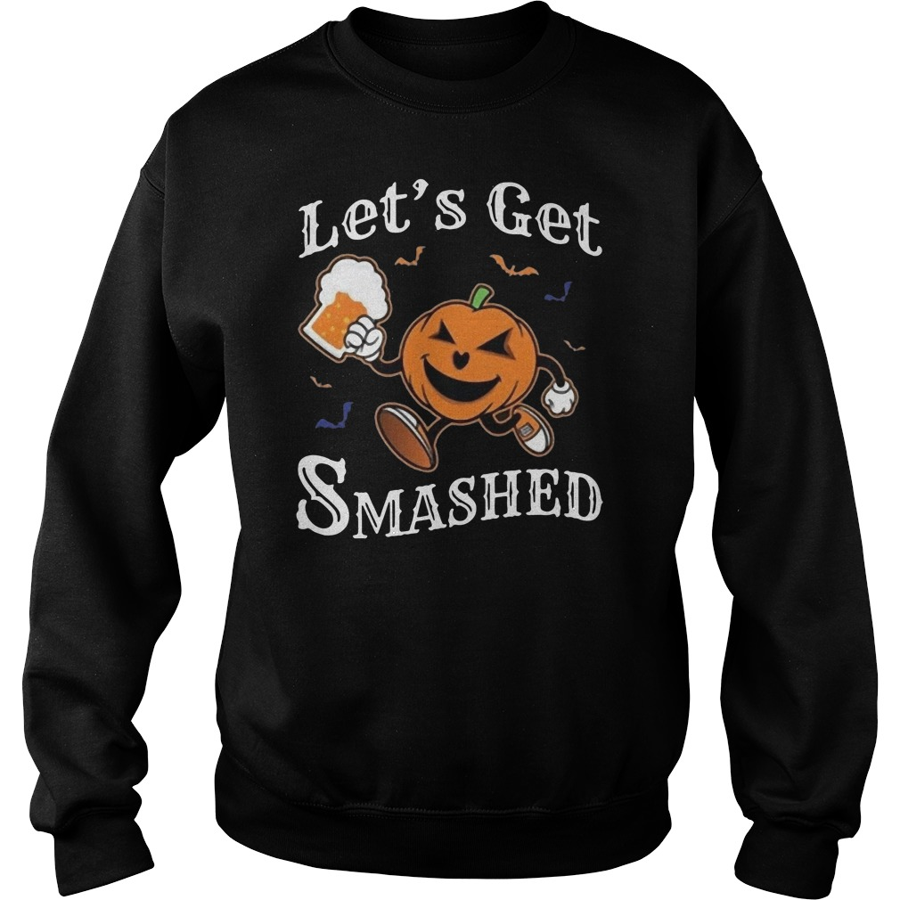 Let's get smashed Halloween drinking pumpkin boos Sweater