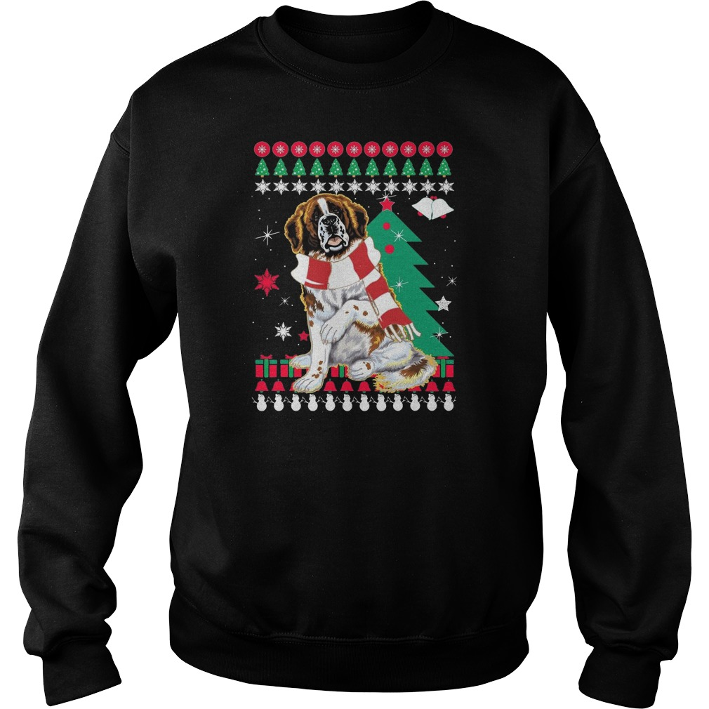 ST Bernard Ugly Christmas sweater