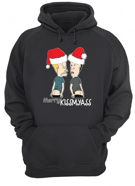 Beavis and Butt-Head Merry Kissmyass Christmas Hoodie