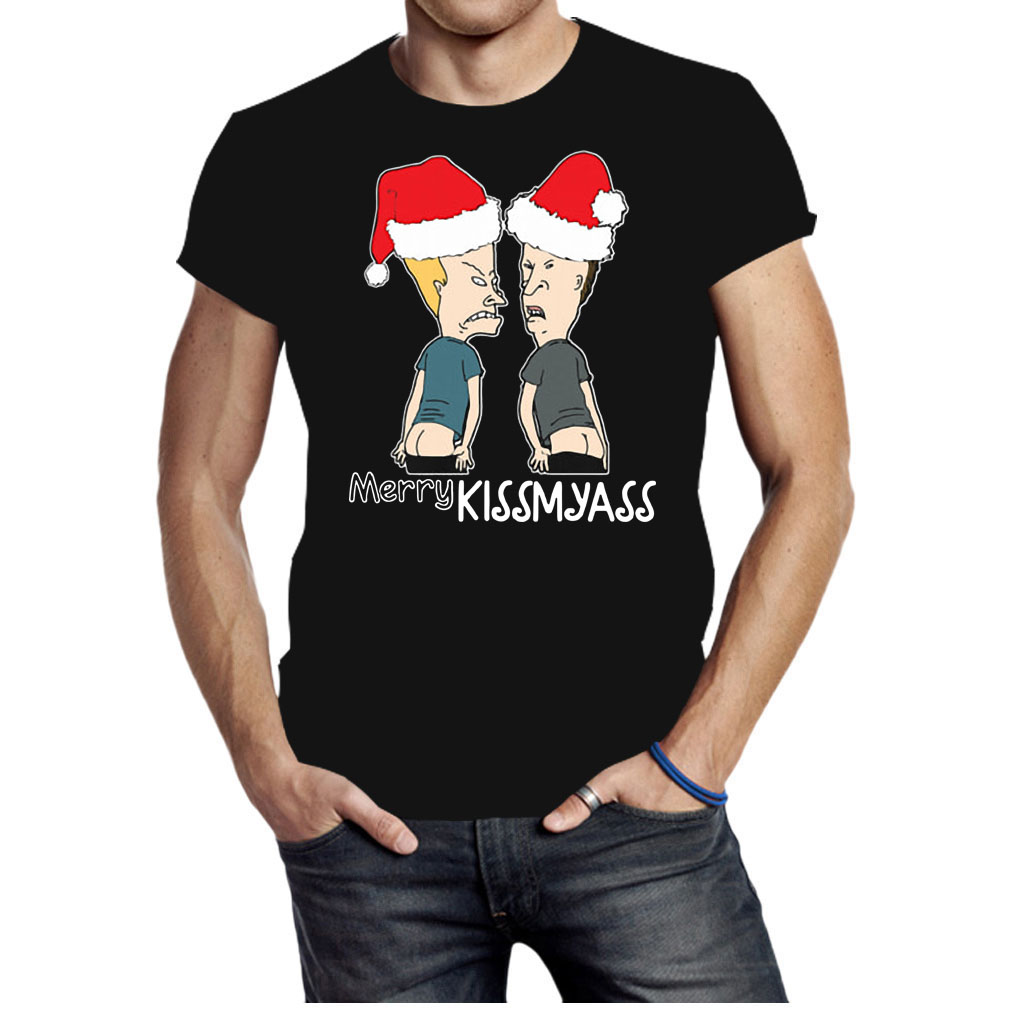 Beavis and Butt-Head Merry Kissmyass Christmas shirt