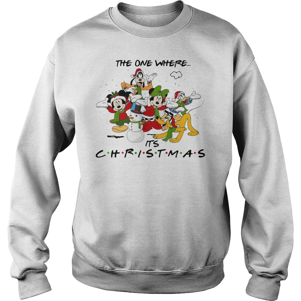 Disney Cartoon characters the one where it's Christmas Sweater