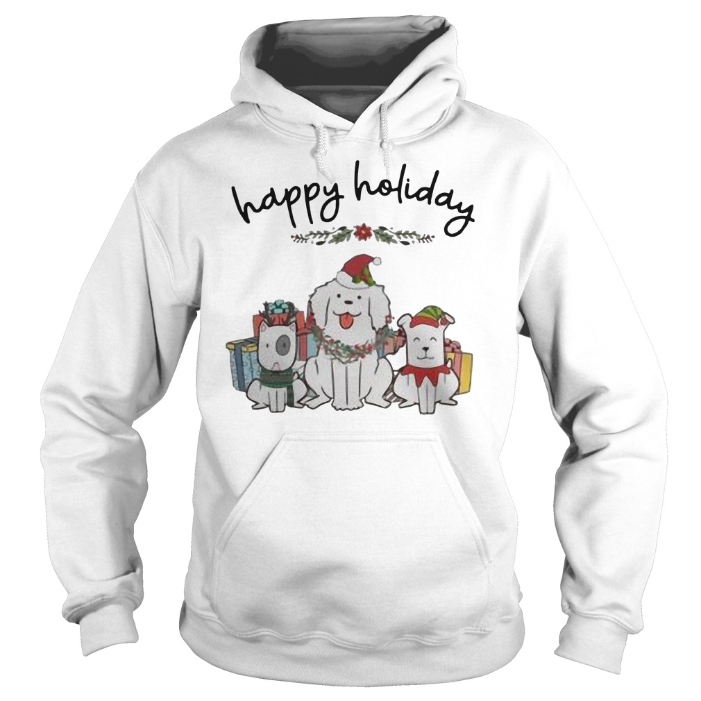 Dogs happy Holiday Christmas shirt