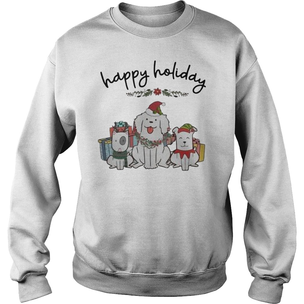 Dogs happy Holiday Christmas Sweater