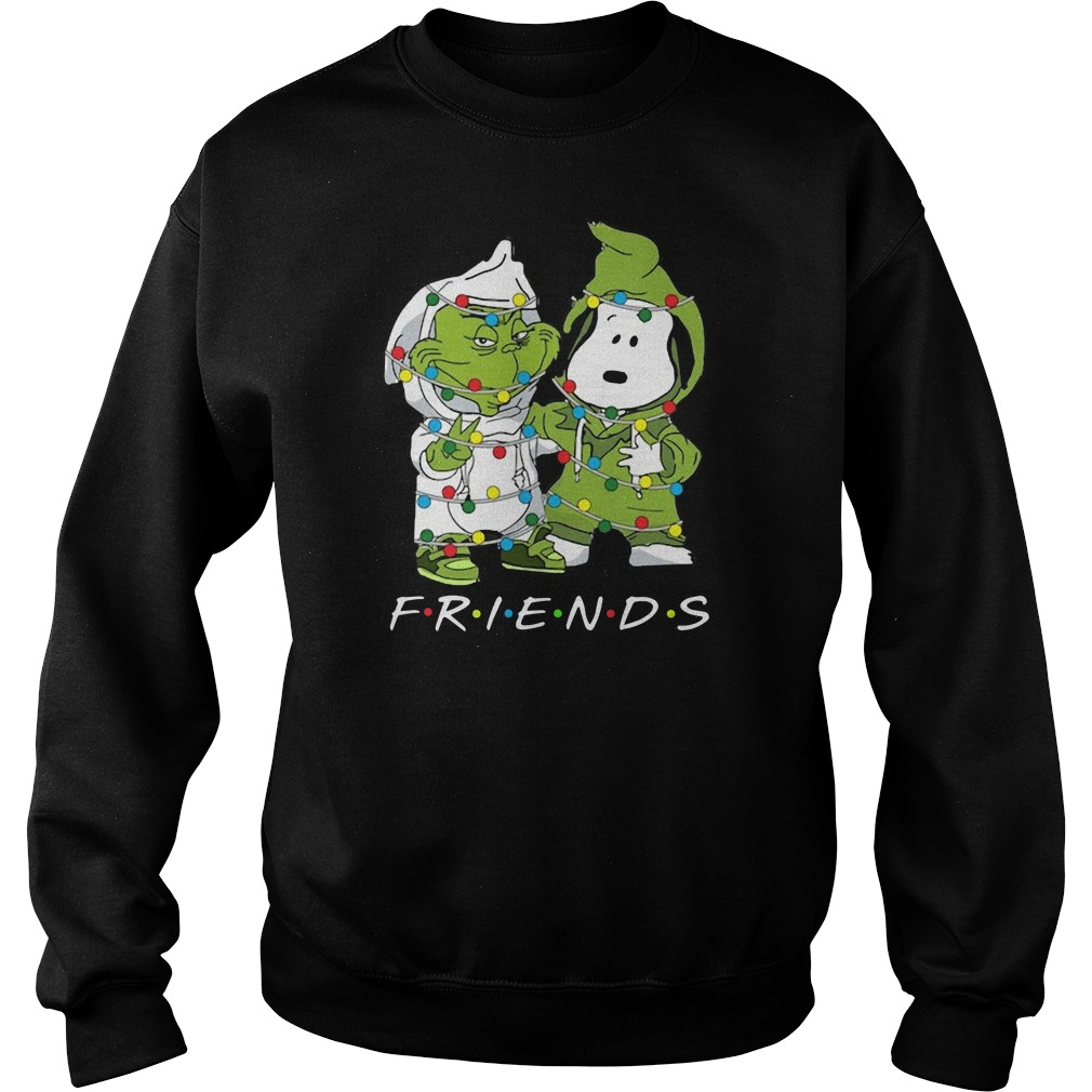 Friends Grinch and Snoopy light Christma Sweater