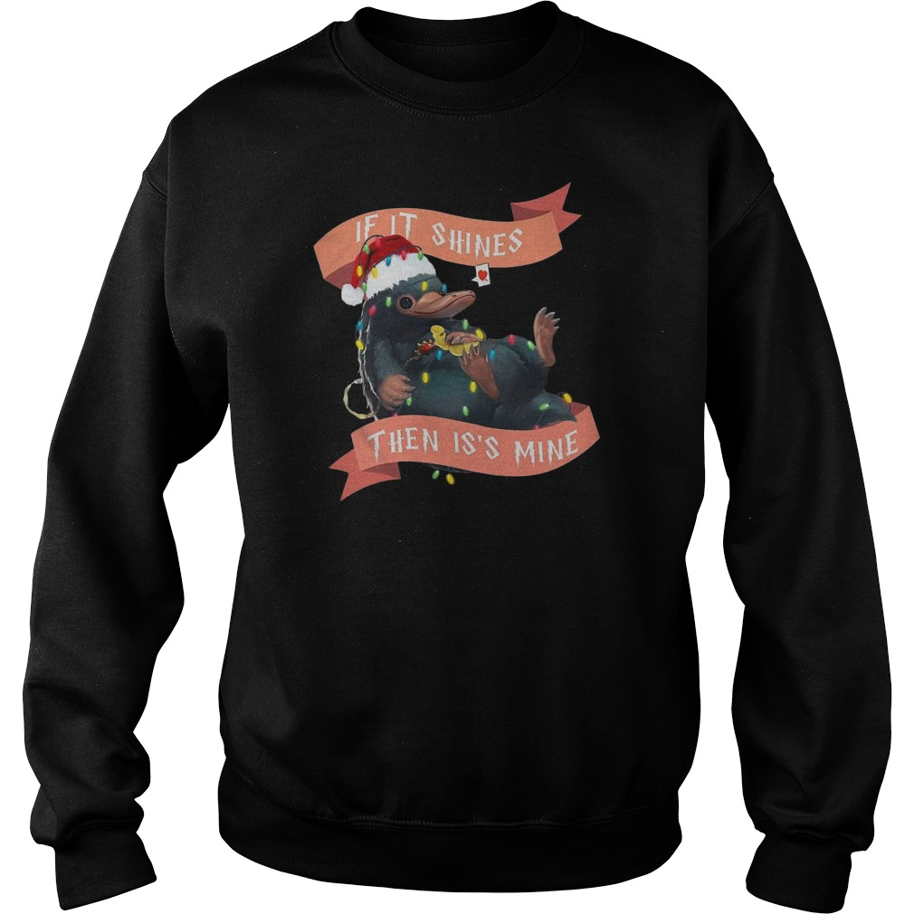Niffler if it shines then it's mine Christmas Sweater