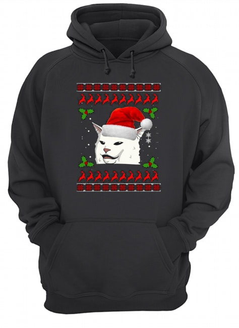 Smudge the Cat meme Ugly Christmas Hoodie