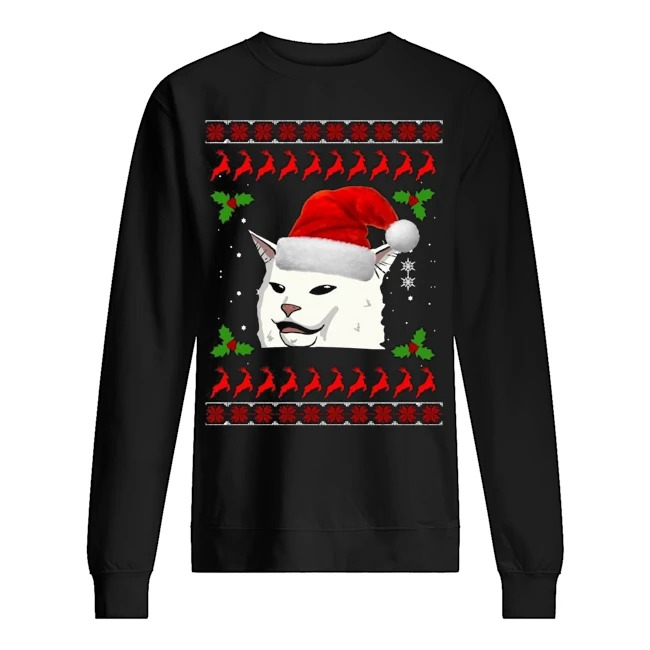 Smudge the Cat meme Ugly Christmas Sweater