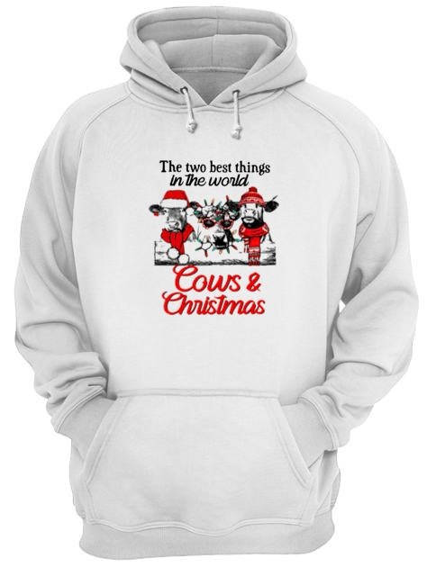 The two best thing in the world Cows and Christmas Hoodie
