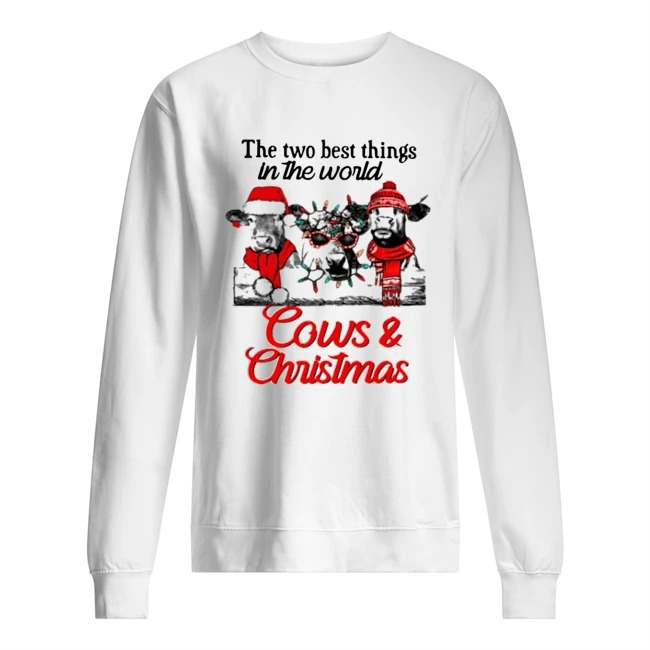 The two best thing in the world Cows and Christmas Sweater