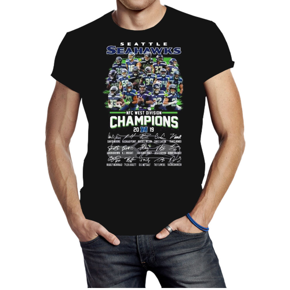 Seattle seahawks NFC West division Champions signatures shirt